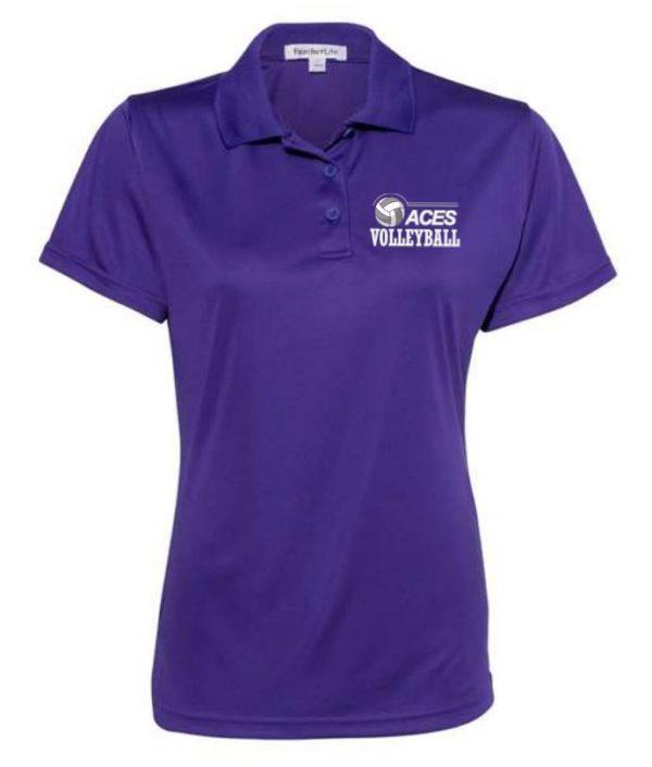 women's purple polo