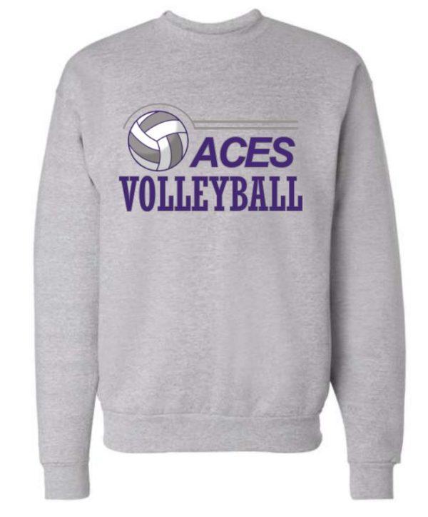 light gray crew neck sweatshirt