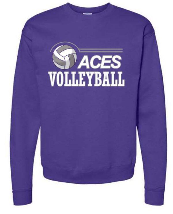 purple crew neck sweatshirt